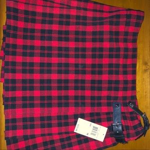 Michael Kors red/black buffalo paid kilt/skirt